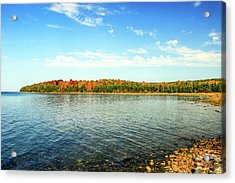 Peninsula Shore In Fall Acrylic Print