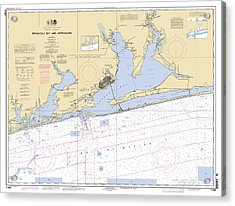 Pensacola Bay And Approaches Noaa Chart 11382 Acrylic Print