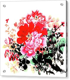 Peony Acrylic Print by Vii-photo