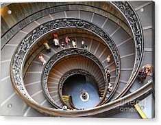 People Climbing Down The Stairs Of The Acrylic Print