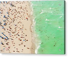 People On Beach An In Water, Aerial View Acrylic Print
