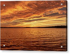 Acrylic Print featuring the photograph Percy Priest Lake Sunset by D K Wall