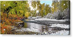 Acrylic Print featuring the photograph Perfect Autumn Day by Leland D Howard