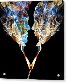 Perfect Match Up In Smoke Acrylic Print by Jamesbrey