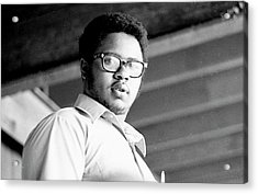 Perturbed High School Student, With Substantial Eyeglasses, 1972 Acrylic Print