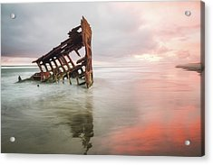 Acrylic Print featuring the photograph Peter Iredale Shipwreck by Nicole Young
