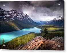 Acrylic Print featuring the photograph Peyto Lake / Alberta, Canada by Nicholas Parker