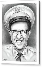Phil Silvers As Sgt Bilko Acrylic Print