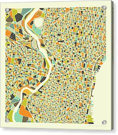 Philadelphia Map 1 Acrylic Print