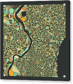 Philadelphia Map 2 Acrylic Print