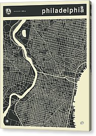 Philadelphia Map 3 Acrylic Print