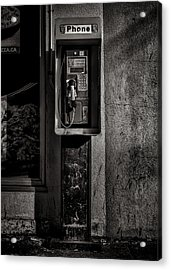 Acrylic Print featuring the photograph Phone Booth No 9 by Brian Carson