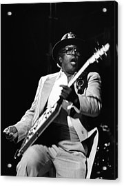 Photo Of Bo Diddley Acrylic Print by Fin Costello