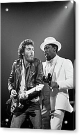 Photo Of Bruce Springsteen And Clarence Acrylic Print