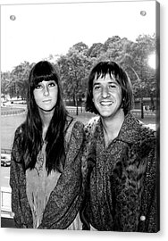 Photo Of Cher And Sonny & Cher And Acrylic Print