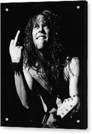 Photo Of James Hetfield And Metallica Acrylic Print by Pete Cronin
