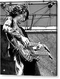Photo Of Jimmy Page And Led Zeppelin Acrylic Print by Ed Perlstein