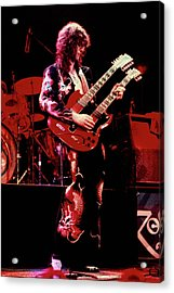 Photo Of Jimmy Page And Led Zeppelin Acrylic Print by Graham Wiltshire