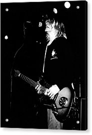 Photo Of Kurt Cobain And Nirvana Acrylic Print by Paul Bergen