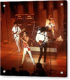 Photo Of Queen  And Freddie Mercury And Acrylic Print