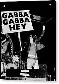 Photo Of Ramones Acrylic Print by Larry Hulst