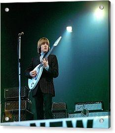 Photo Of Vox Guitars And Brian Jones Acrylic Print
