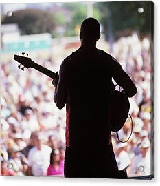 Photo Of World Music And Guitarist Acrylic Print