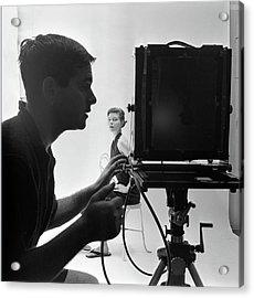 Photographing Bettina Acrylic Print by Gordon Parks