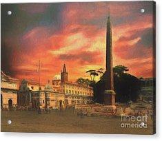 Piazza Del Popolo Rome Acrylic Print