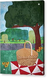 Picnic At Ellis Pond Acrylic Print