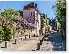 Picturesque House On The Montmartre Acrylic Print