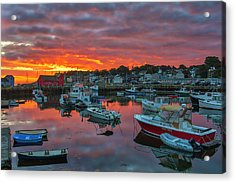Acrylic Print featuring the photograph Picturesque Rockport  by Juergen Roth