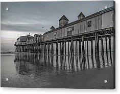 Pier At Dawn In Maine Acrylic Print