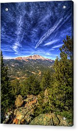 Pikes Peak And Blue Sky Acrylic Print