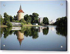 Pildammsparken In Malmo Acrylic Print by Secablue
