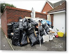 Pile Of Household Waste Acrylic Print