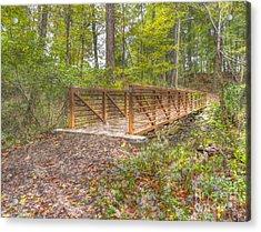 Pine Quarry Park Bridge Acrylic Print