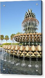 Pineapple Fountain, Charleston Acrylic Print
