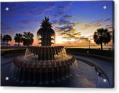 Pineapple Fountain In Charleston Acrylic Print
