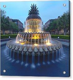 Pineapple Fountain In Charleston, South Acrylic Print