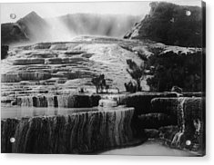 Pink & White Terraces Acrylic Print by General Photographic Agency