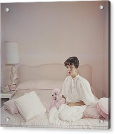 Pink Accessory Acrylic Print by Slim Aarons