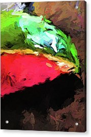 Pink And Green Watermelon Acrylic Print