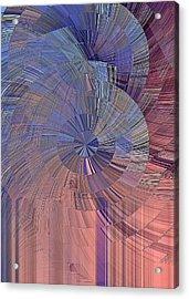 Pink, Blue And Purple Acrylic Print