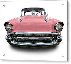 Pink Chevrolet Bel Air 1957 Acrylic Print by Schlol