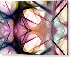 Pink Geometry Acrylic Print