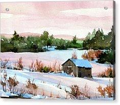 Pink Glaze Acrylic Print by Art Scholz
