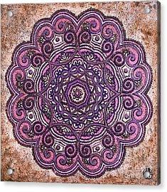 Pink Mandala Acrylic Print