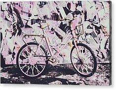 Pink Posterized Pushbike Acrylic Print