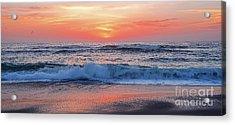Pink Sunrise Panorama Acrylic Print